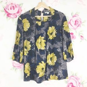 Boden Floral Printed Silk Blouse 12